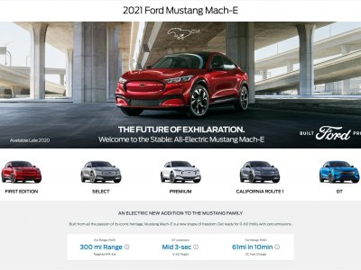 Miniaturka 2021 Ford Mustang Mach-E website screenshot