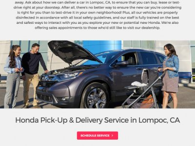 Obrazek Honda Pick-up and Delivery Service tablet